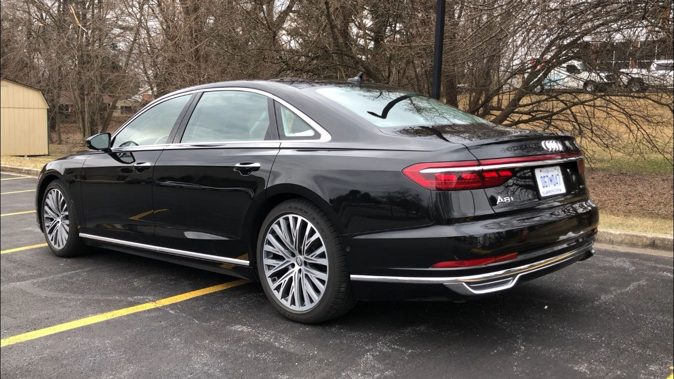 The A8 L is close to the top of the food chain for large, executive-sized luxury cars. (WTOP/John Aaron)