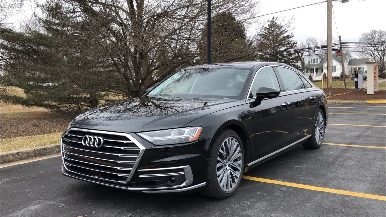 The Audi A8 L offers a serene atmosphere on the road and its doors have the feel of a bank vault closing. (WTOP/John Aaron)