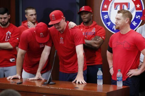 Angels-Rangers DH set for makeup of game when Skaggs died