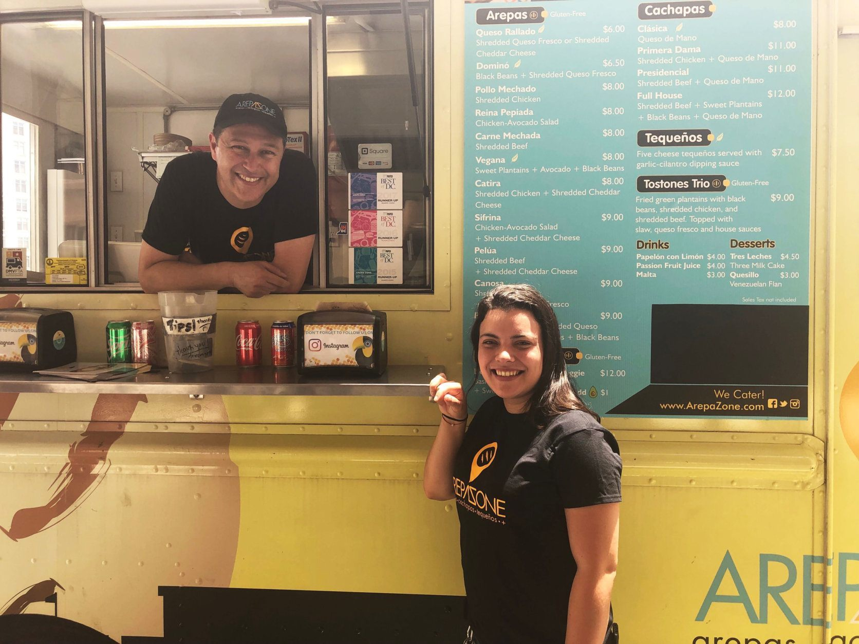 "<p><span style=""font-weight: 400;"">In the last few years, Arepa Zone's reach has grown beyond its four wheels. Febres and </span><span style=""font-weight: 400;"">Arellano</span><span style=""font-weight: 400;""> have a brick-and-mortar restaurant on 14th Street NW, plus stands inside D.C.'s busy Union Market and at D.C. United's Audi Field. </span></p> <p><span style=""font-weight: 400;"">With its growth, Febres said keeping the food as authentic as possible is always top-of-mind. She said she knows she's doing something right when her restaurant is full of Venezuelans. </span></p> <p><span style=""font-weight: 400;"">""I always sort of stay staring at a person when they're biting into their arepa. When I see them licking their fingers and stuff, I'm like, 'OK. They're coming back.'""</span></p> <p><em><span style=""font-weight: 400;"">WTOP&#8217;s Carlos Prieto contributed to this story. </span></em></p> <p>&nbsp;</p>"