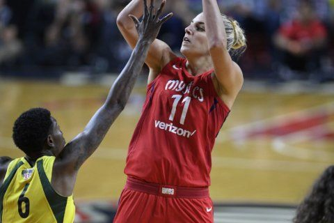 Mystics break WNBA record with 18 3s, beat Fever 107-68