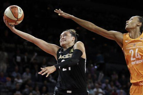 Surging Aces have won 5 straight, sit atop power poll