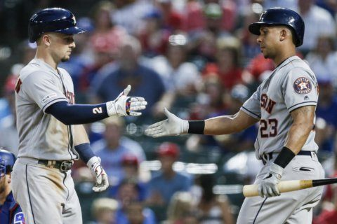 Astros with 2 in 11th beat Texas 7-6, avoid 3rd loss in row
