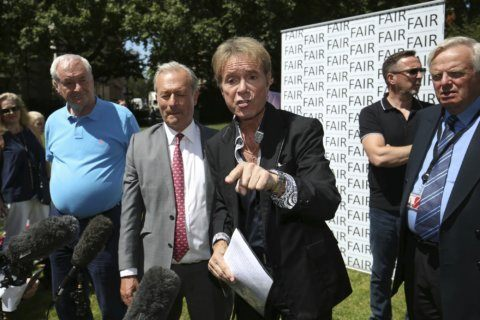 Rocker Cliff Richard urges anonymity for sex-crimes suspects