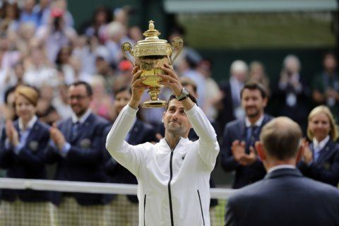 Djokovic tops Federer in historic final for 5th at Wimbledon