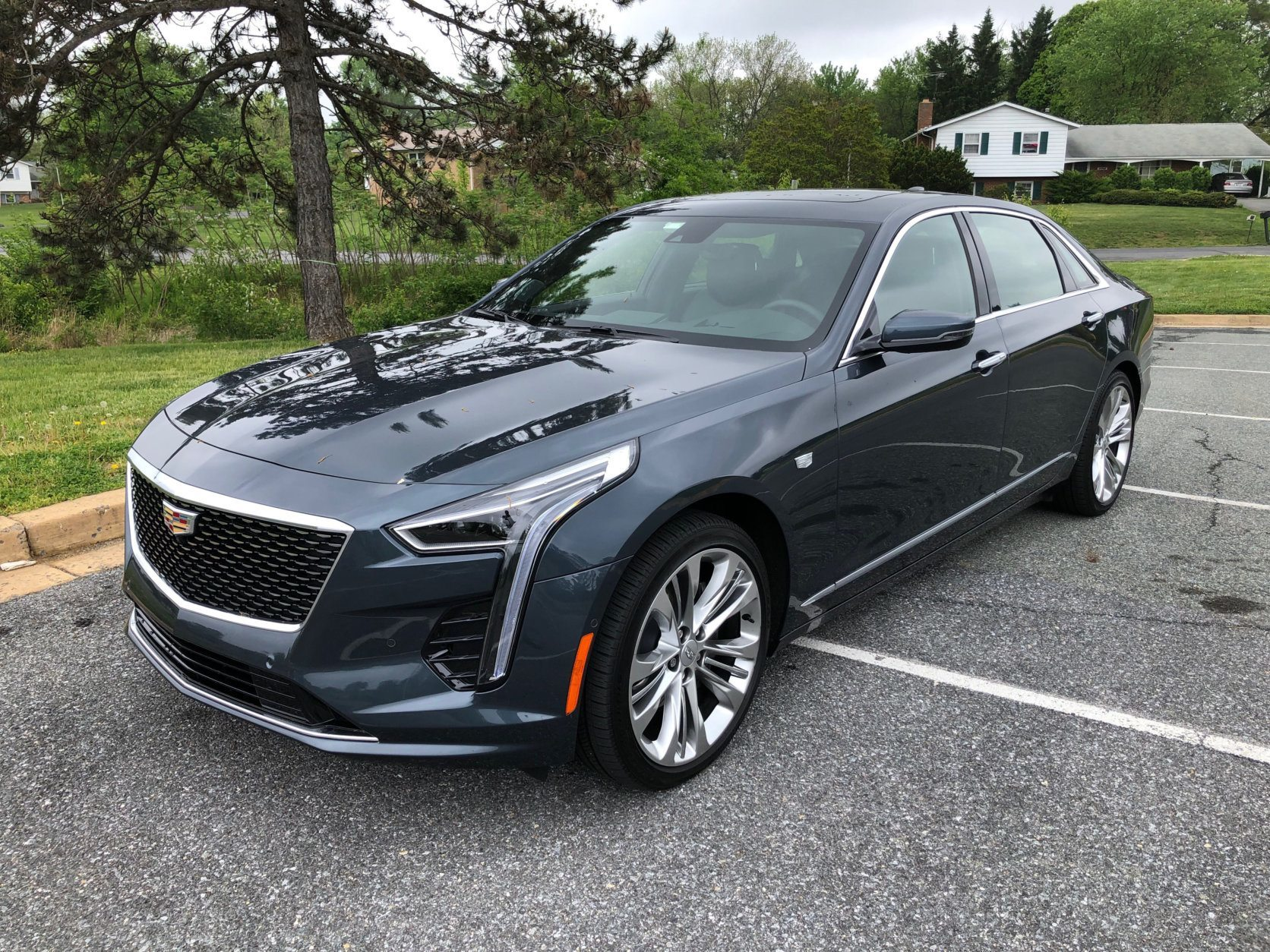 The Cadillac CT6 is cheaper and more fun to drive than the Audi or the Lexus, if not as nice inside. (WTOP/John Aaron)