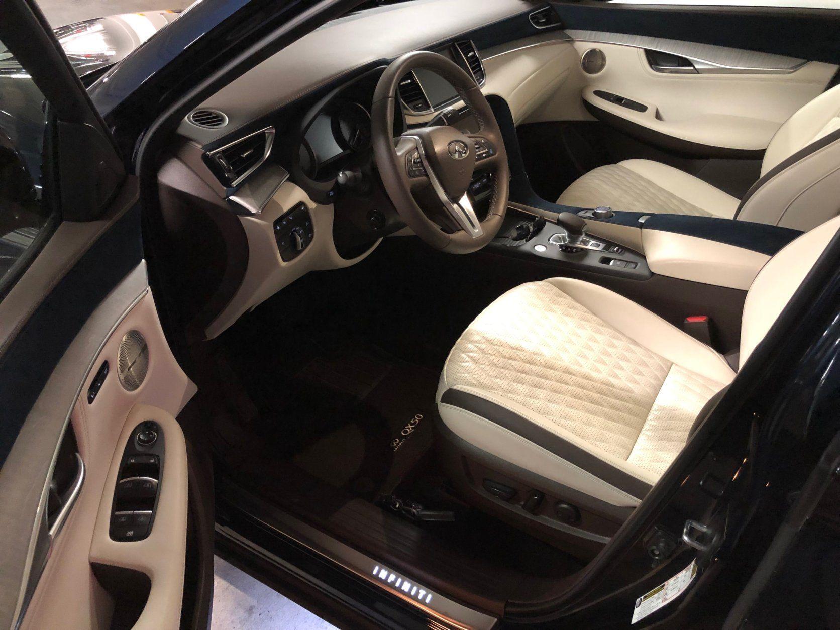 Interior shot of Infiniti QX50