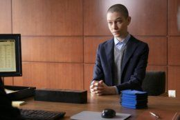 "This image released by Showtime shows non-binary actress Asia Kate Dillon as Taylor in a scene from ""Billions."" LGBTQ representation in children's TV is building a bandwagon. Dillon also voices Val/entina, a gender fluid former Russian agent, on the animated web series ""gen:LOCK."" (Jeff Neumann/Showtime via AP)"