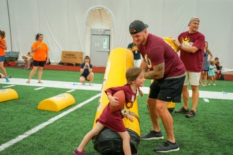 At Redskins Park, a football clinic gets youngsters with developmental hurdles onto the gridiron
