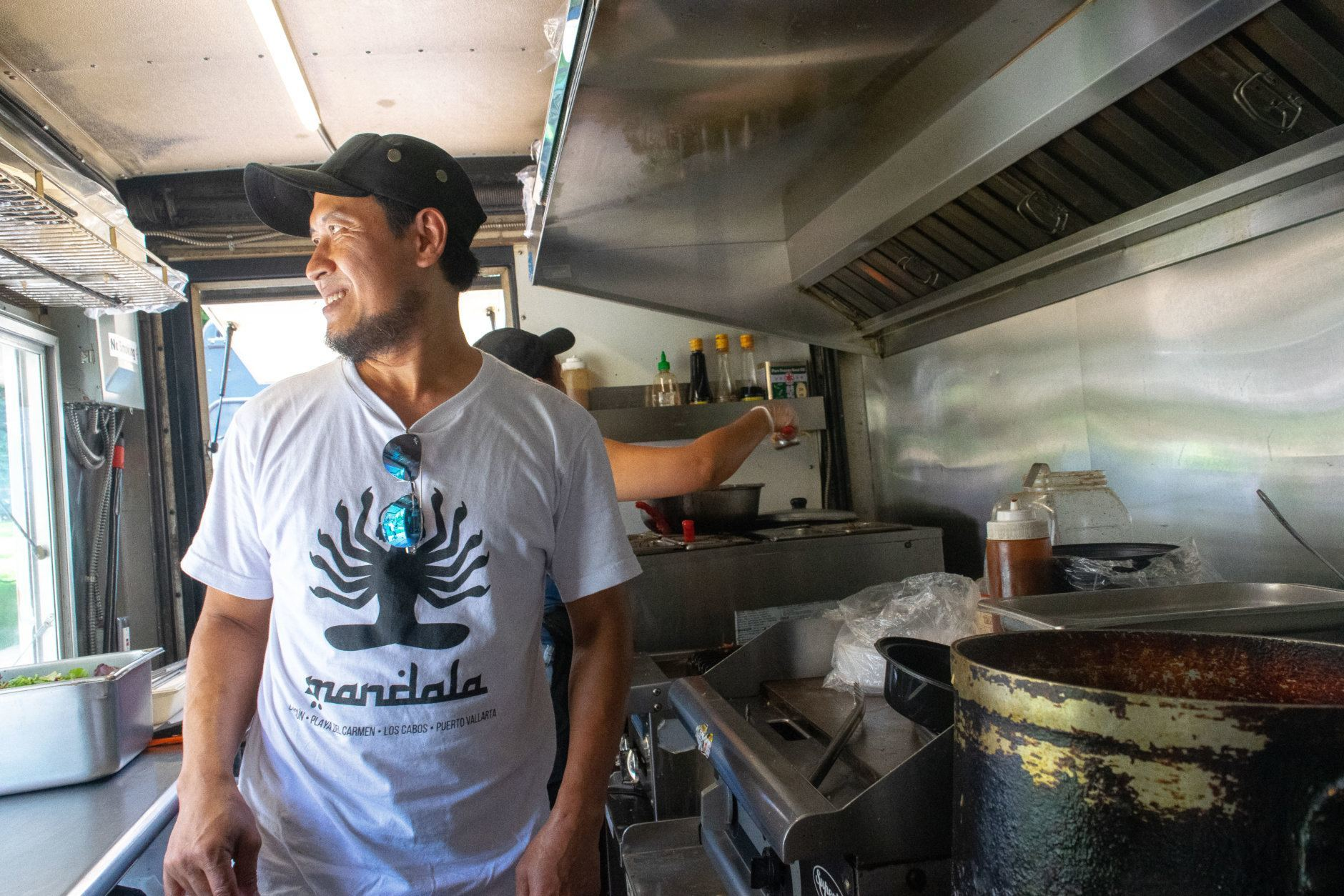 "<p><span style=""font-weight: 400;"">Setiantoko's biggest sellers are the spicy beef curry and chicken sate, and on a busy lunch rush in Farragut Square, he'll fill nearly 100 orders for those dishes and others that he learned to make from his mother and grandmother.  </span></p> <p><span style=""font-weight: 400;"">""I do what they did in Indonesia, so the flavor and the taste is just pretty much [like] back home. I do not modify [the food] in any way,"" Setiantoko said.</span></p>"