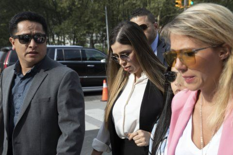 The Latest: El Chapo's wife arrives at sentencing hearing