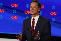 Montana Gov. Steve Bullock participates in the first of two Democratic presidential primary debates hosted by CNN Tuesday, July 30, 2019, in the Fox Theatre in Detroit. (AP Photo/Paul Sancya)