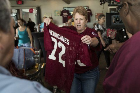Herricanes female football players hold reunion in Houston