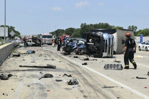The Latest: $100K bond for trucker in deadly Indiana crash
