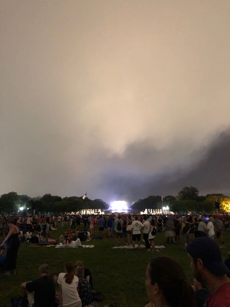 After this year's fireworks, particulate pollution levels in D.C. were especially high. (WTOP/Michelle Basch)