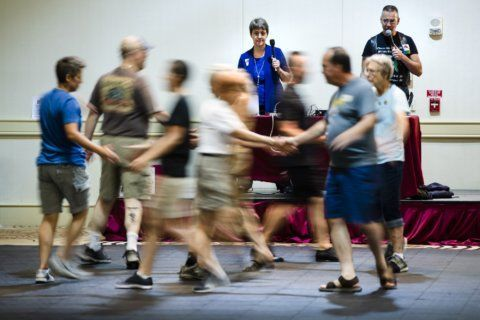 Gay square dancers add new spin to centuries-old dance style