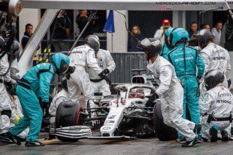 Rare sight in F1 as both Mercedes struggle at German GP