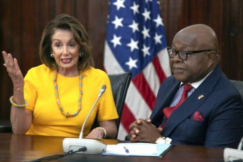 Pelosi says 'humbled' by Ghana visit to gateway to slavery