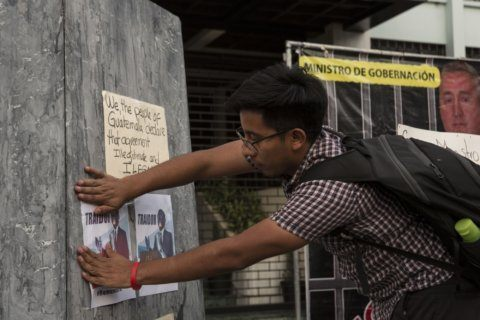 Guatemalan activists protest migrant asylum pact with US