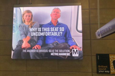Metro campaign includes message against 'manspreading'