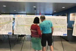 Arlington and Falls Church residents checked out VDOT's plans. (WTOP/Dick Uliano)