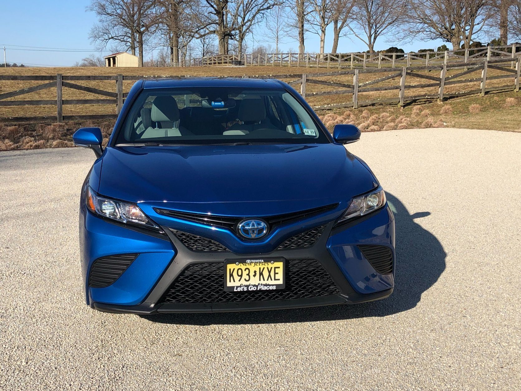 Front end of the 2019 Camry