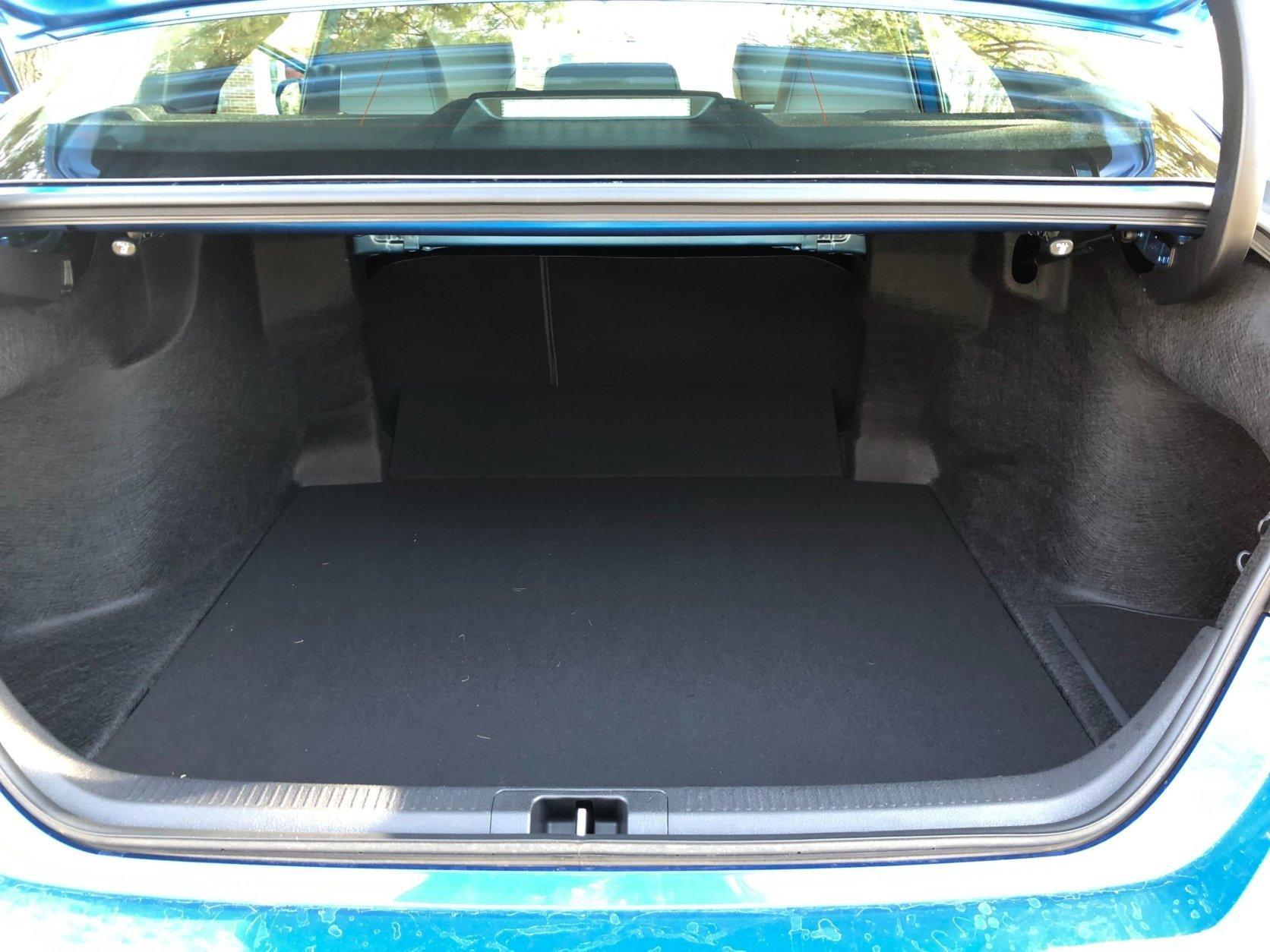 Trunk space in the 2019 Camry