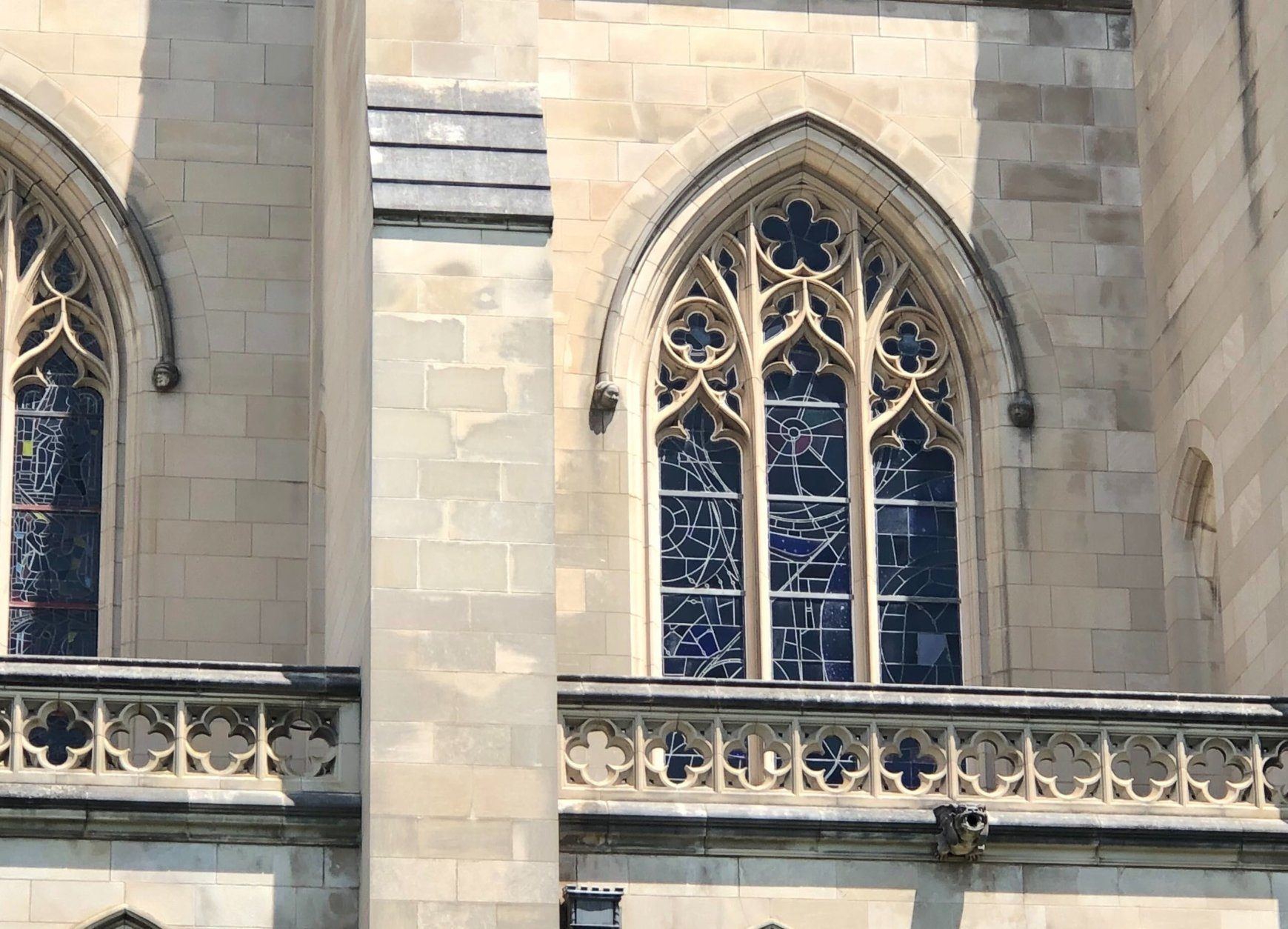 <p>There&#8217;s a fun fact related to the window you might not hear elsewhere: All the cathedral&#8217;s windows used to be plain panes of glass that were changed out with stained glass creations as themes and designs were selected.</p>