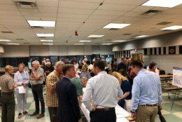 people attending GW Parkway meeting
