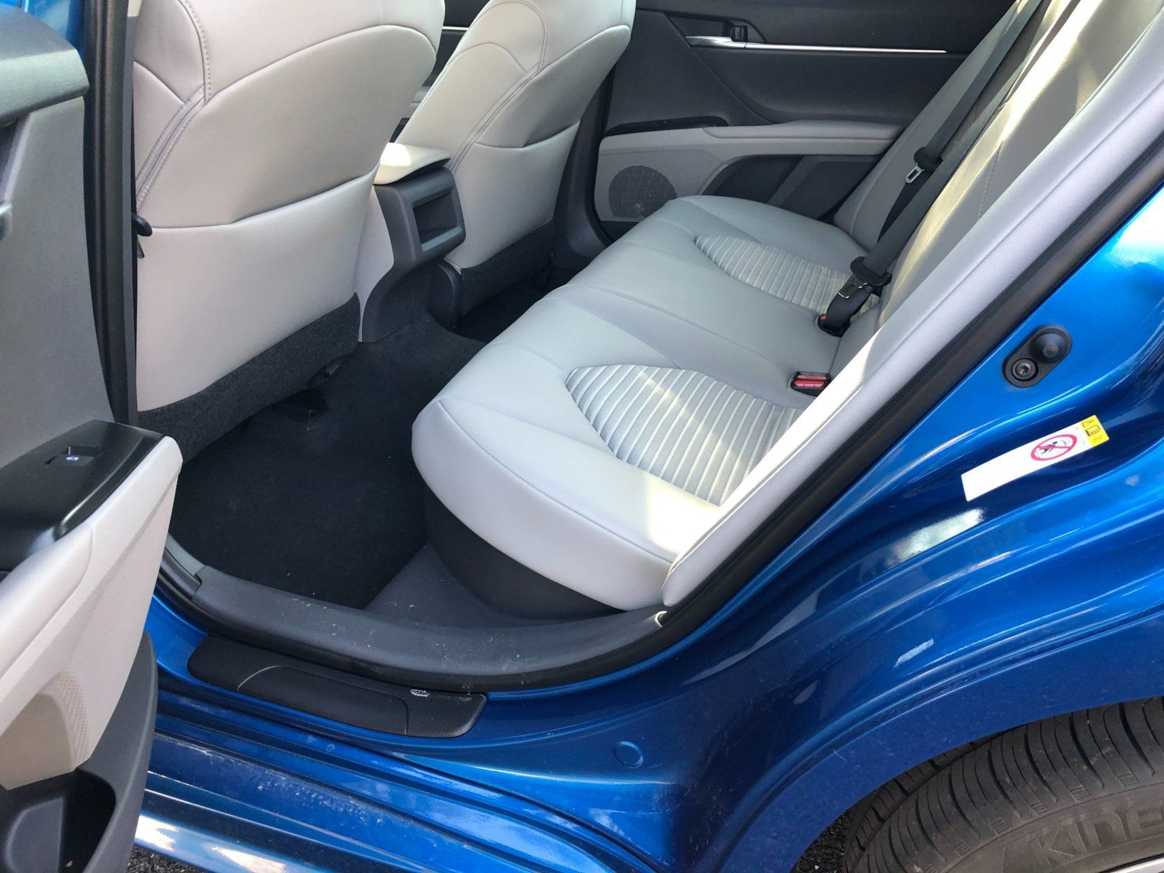 Back seats of the 2019 Camry