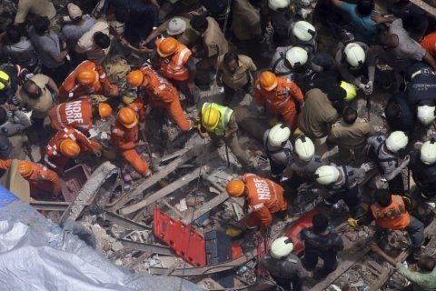 Building collapses in India; 7 dead, several feared trapped