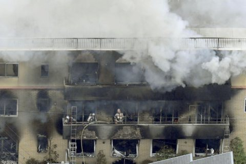 The Latest: 33 die in fire set at Kyoto animation studio
