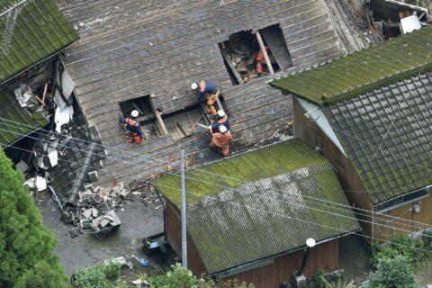 Heavy rain in south Japan causes floods, mudslides, blackout