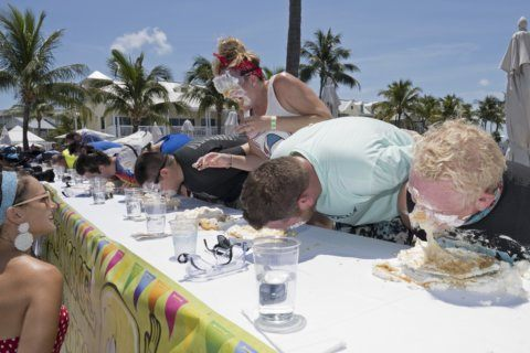 Sweet! Florida man wins July 4 key lime pie-eating contest