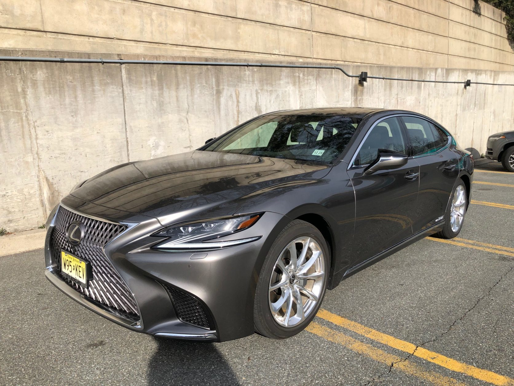 The LS 500h, the hybrid version of Lexus' big luxury sedan, boasts one of the most opulent interiors available in a car today. (WTOP/John Aaron)