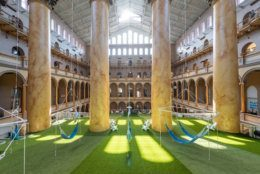 The National Building Museum's annual Summer Block Party installation is back, and this year's interactive exhibit celebrates a classic summer pastime: hanging out on a lawn.  (Courtesy National Building Museum)