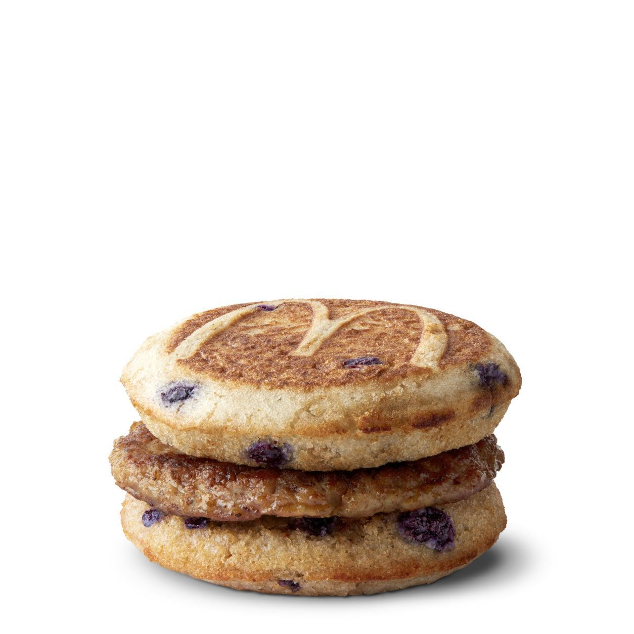 The Blueberry McGriddles comes in three versions: sausage; sausage, egg and cheese; and bacon, egg and cheese.