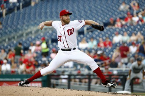 Strasburg strikes out 14 as Nationals defeat Marlins 3-1