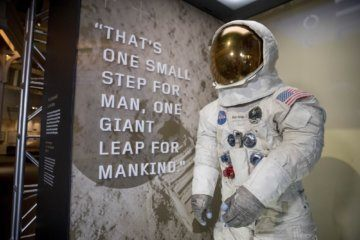 Neil Armstrong's spacesuit on display for first time in more than a decade