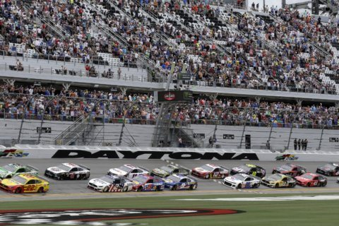 The Latest: Haley wins rain-shortened Cup race at Daytona