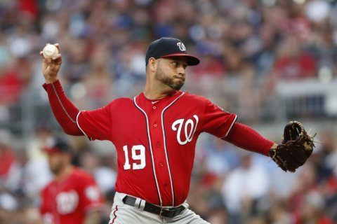 Sánchez, Adams pace Nationals past Braves, 5-3