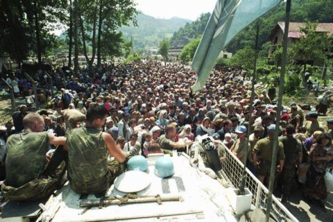 The Latest: Relatives of victims condemn Srebrenica ruling