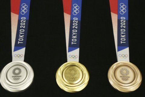 1 Year: Tokyo Olympics unveil gold, silver, bronze medals