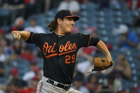 Orioles grab early lead, power past Angels in 9-3 win