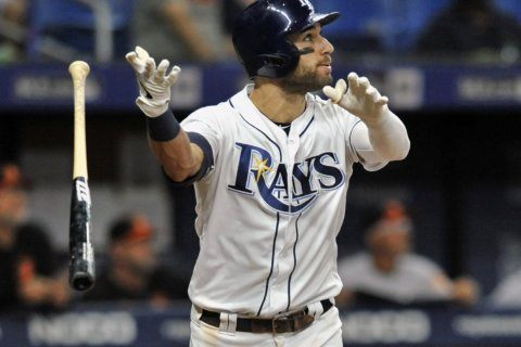 Rays beat Orioles 6-3; McKay goes 0 for 4 in hitting debut