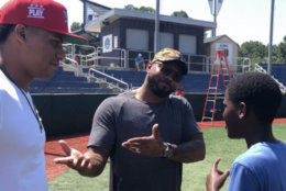 Juan Soto, Howie Kendrick and an academy participant