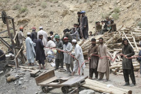 Rescuers save 2, retrieve 8 bodies after Pakistan mine blast