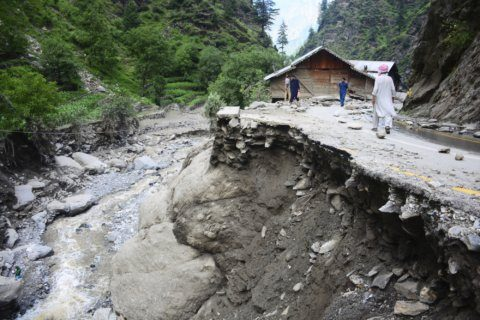Pakistan says 22 missing in flash floods in Kashmir