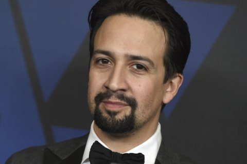 Lin-Manuel Miranda joins rally against Puerto Rico governor