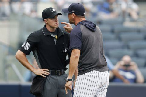 Boone ejected, directs profane rant at rookie umpire